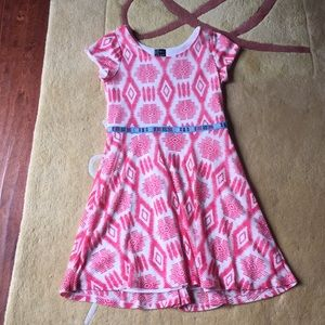Pink patterned dress